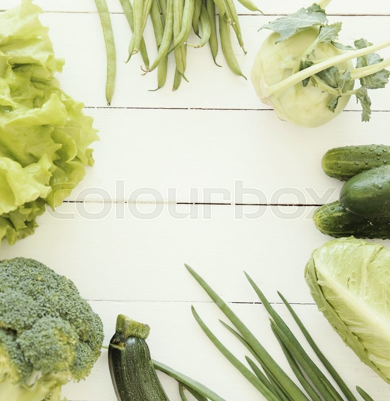 Stock image of 'Fresh food. Vegetables on the table'