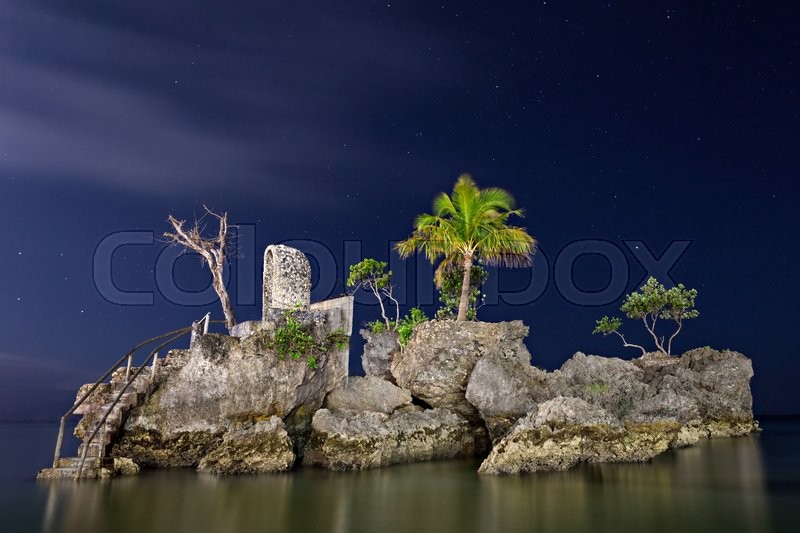 Stock image of 'Willys rock, Boracay island, Philippines'