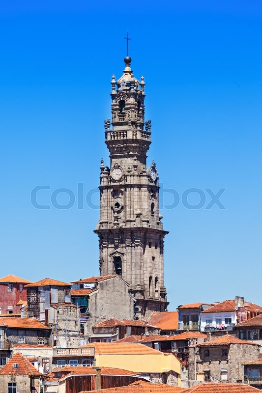 Stock image of 'Clerigos Tower (Torre dos Clerigos), Porto, Portugal'