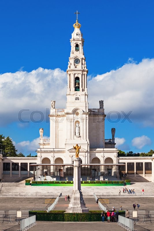 Stock image of 'The Sanctuary of Fatima, which is also referred to as the Basilica of Our Lady of Fatima, Portugal'