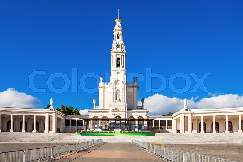 Stock image of 'The Sanctuary of Fatima, which is also known as the Basilica of Our Lady of Fatima, Portugal'