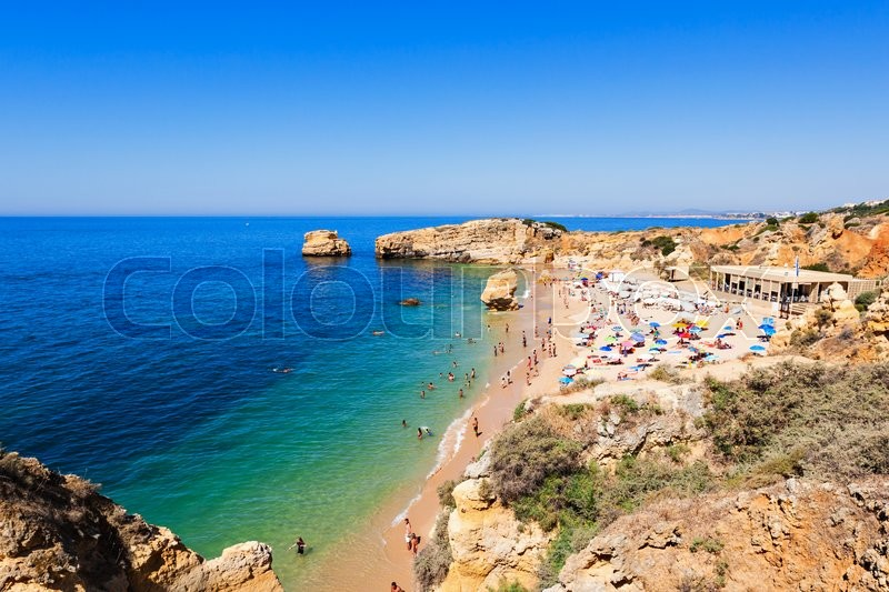 Stock image of 'Sao Rafael beach in Albufeira, Algarve region, Portugal'