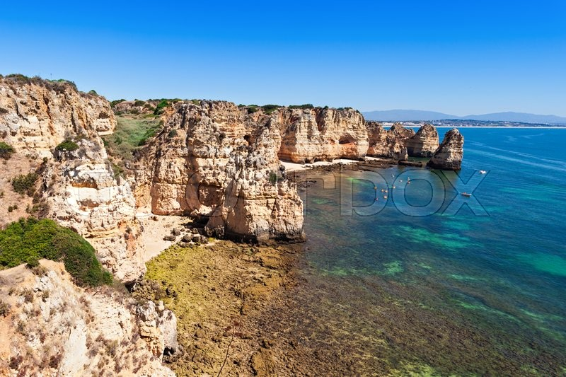 Stock image of 'Ponta da Piedade in Lagos, Algarve region in Portugal'