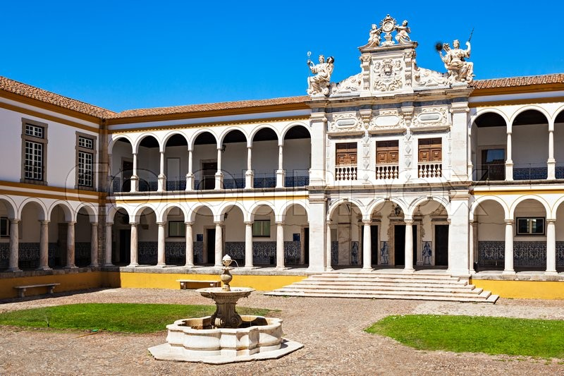 Stock image of 'The University of Evora, the second oldest in Portugal, was founded in the 16th century by Cardinal Infante Dom Henrique it was delivered to the Society of Jesus'
