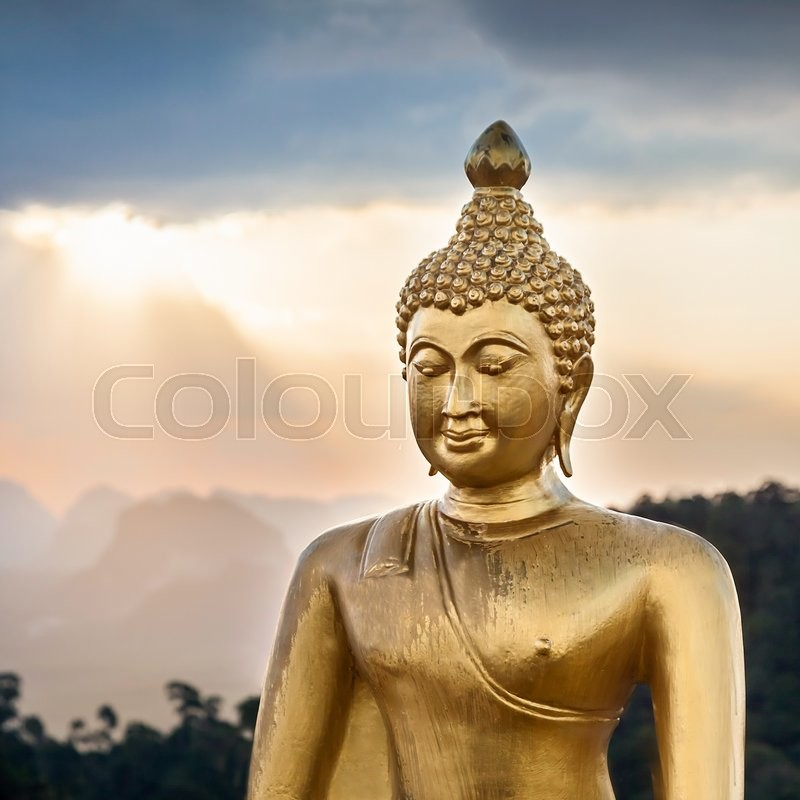 Editorial image of 'Buddha statue with beauty sky background'