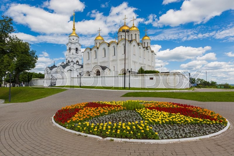 Editorial image of 'VLADIMIR - JUNE 05, 2016 :Assumption cathedral at Vladimir in summer, UNESCO World Heritage Site, Vladimir, Russia.'