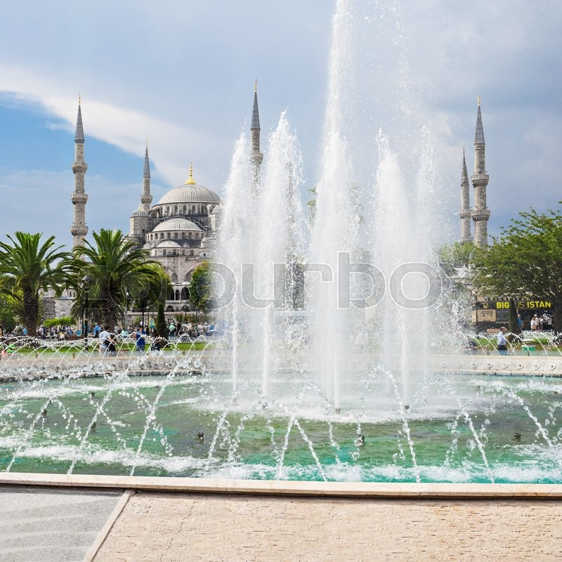 Stock image of 'The Blue Mosque (Sultanahmet Mosque) in Istanbul, Turkey'