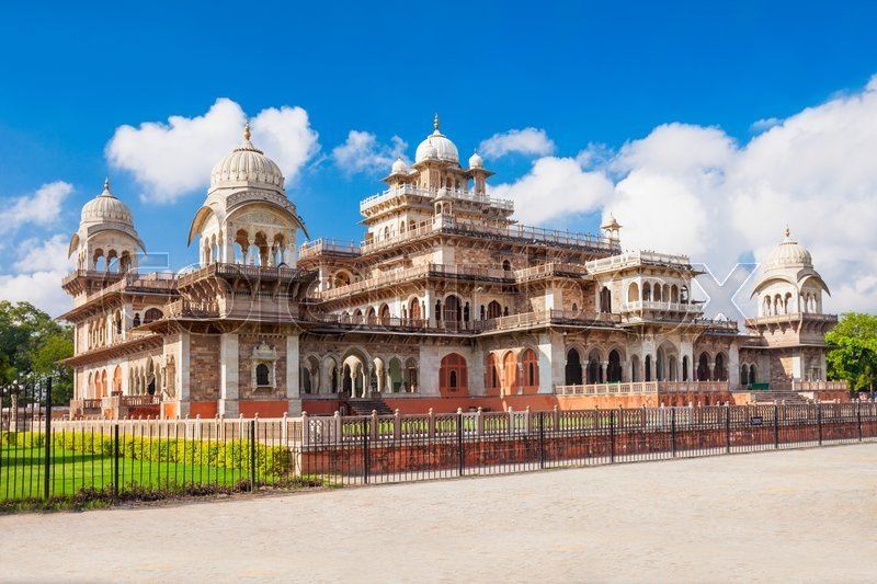 Stock image of 'Albert Hall (Central Museum), Jaipur. It is located in Ram Niwas Garden in Jaipur'