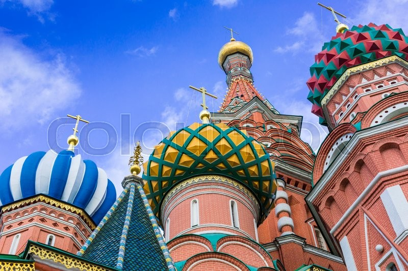 Stock image of 'St Basils cathedral on Red Square in Moscow\\ '