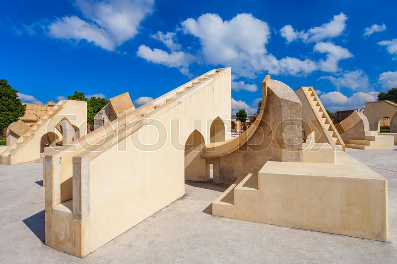 Stock image of 'Astronomical instruments at Jantar Mantar observatory, Jaipur, India'