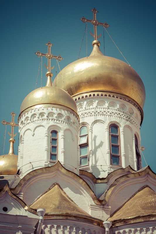 Stock image of 'View of Famous The Annunciation Cathedral in Moscow Kremlin, Russia'