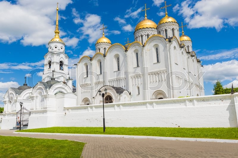 Stock image of 'Assumption cathedral at Vladimir in summer, UNESCO World Heritage Site, Vladimir, Russia.'