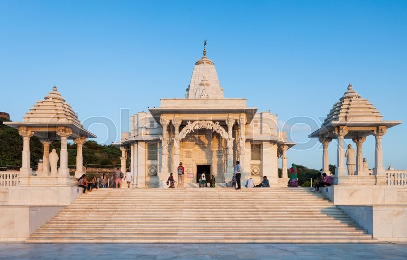 Stock image of 'Birla Mandir (Laxmi Narayan) is a Hindu temple in Jaipur, India'
