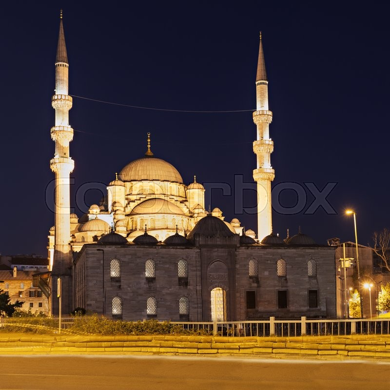 Stock image of 'The New Mosque (Yeni Cami) in Istanbul, Turkey'