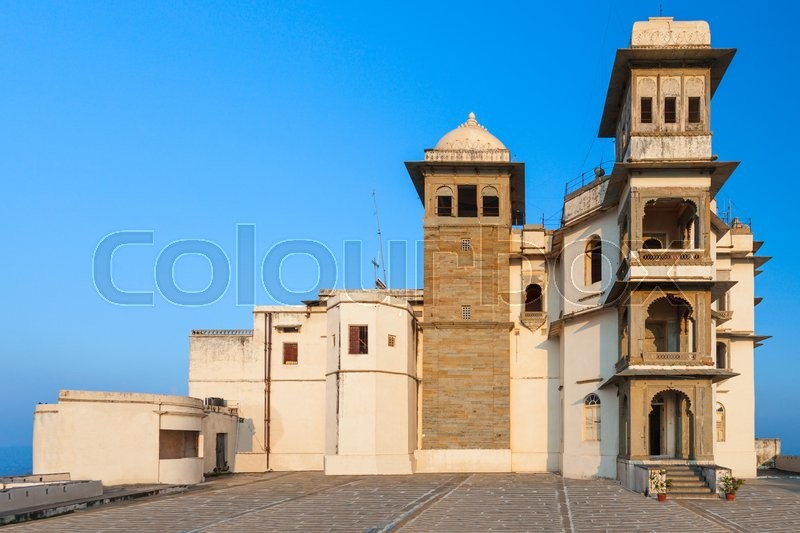 Stock image of 'The Monsoon Palace (Sajjan Garh Palace) in Udaipur, India'