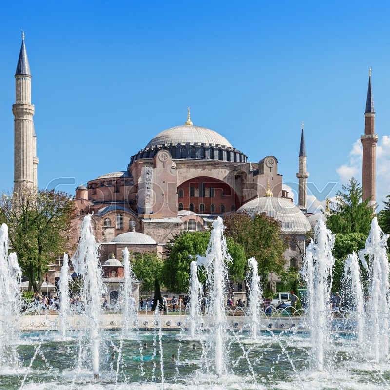 Stock image of 'Hagia Sophia in Istanbul, Turkey. Hagia Sophia is the greatest monument of Byzantine Culture.'