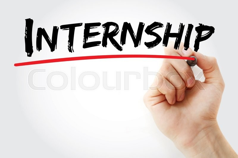 Stock image of 'Hand writing Internship with marker, business concept'