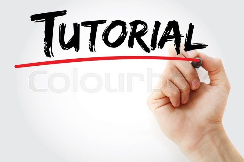 Stock image of 'Hand writing Tutorial with marker, business concept'