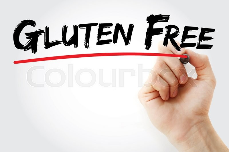 Stock image of 'Hand writing Gluten Free with marker, concept'