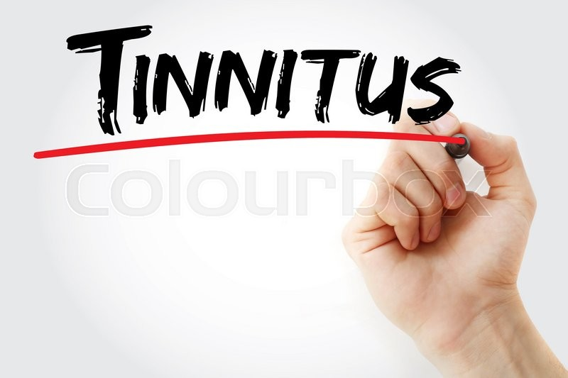 Stock image of 'Hand writing Tinnitus with marker, concept'