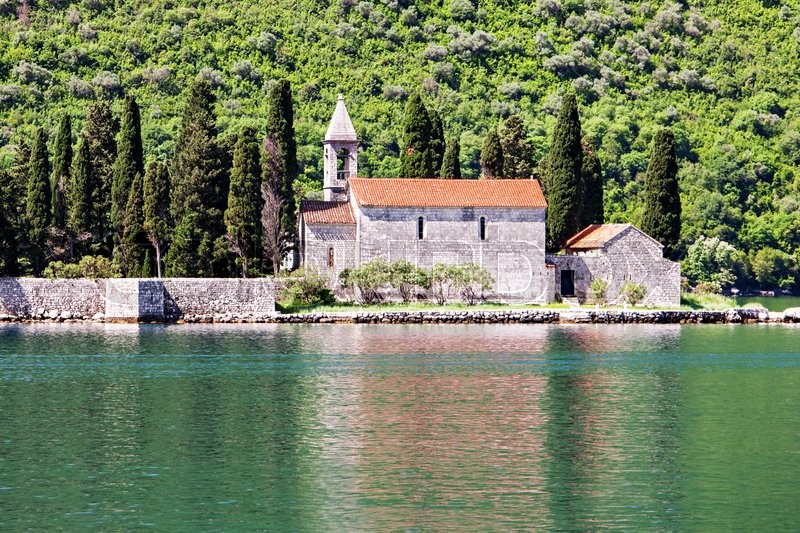 Stock image of 'St. George Church on the island, Perast, Montenegro'