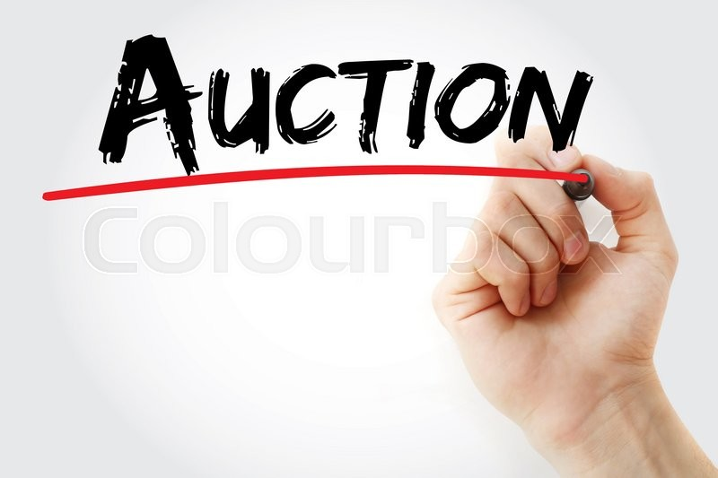 Stock image of 'Hand writing Auction with marker, business concept'