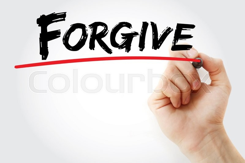 Stock image of 'Hand writing Forgive with marker, business concept'