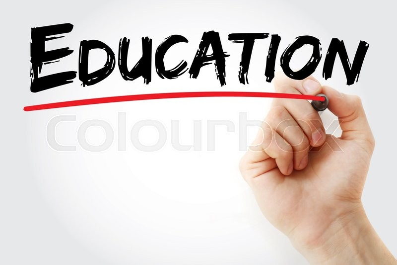 Stock image of 'Hand writing Education with marker, business concept'