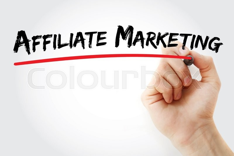 Stock image of 'Hand writing Affiliate Marketing with marker, business concept'