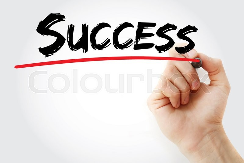 Stock image of 'Hand writing Success with marker, business concept'