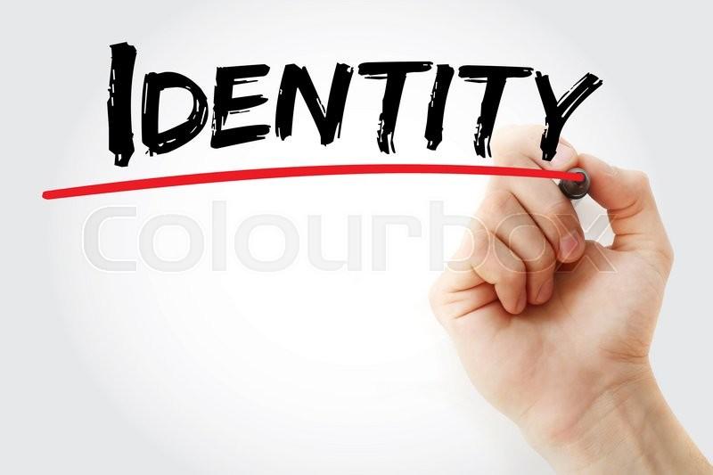 Stock image of 'Hand writing Identity with marker, business concept'
