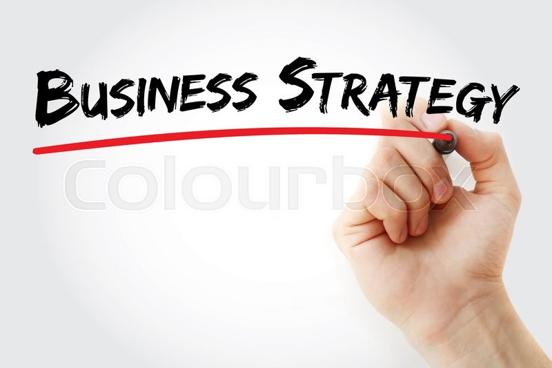 Stock image of 'Hand writing Business Strategy with marker, business concept'