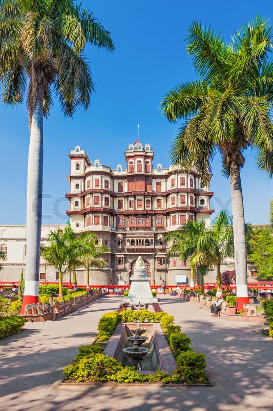 Stock image of 'Rajwada is a historical palace in Indore city, India'