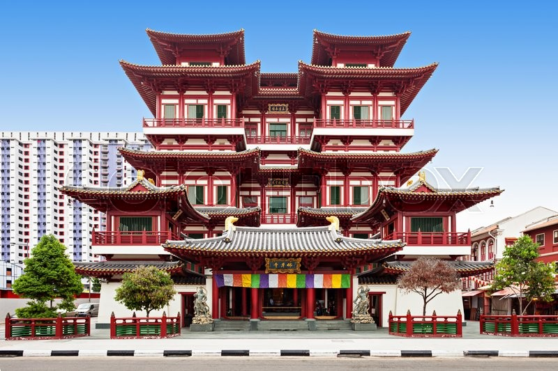 Stock image of 'The Buddha Tooth Relic Temple is a Buddhist temple located in the Chinatown district of Singapore.'