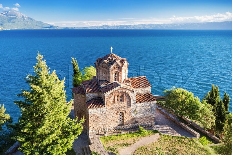 Stock image of 'Church of St. John at Kaneo, Ohrid, Macedonia'