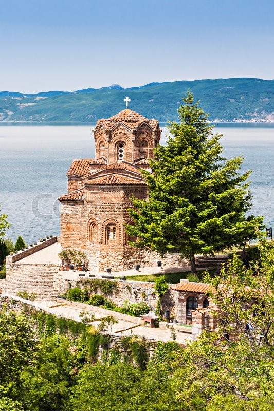 Stock image of 'Saint John Monastery in old town, Ohrid, Macedonia'