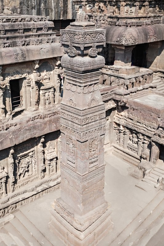 Stock image of 'Kailas Temple in Ellora, Maharashtra state in India'