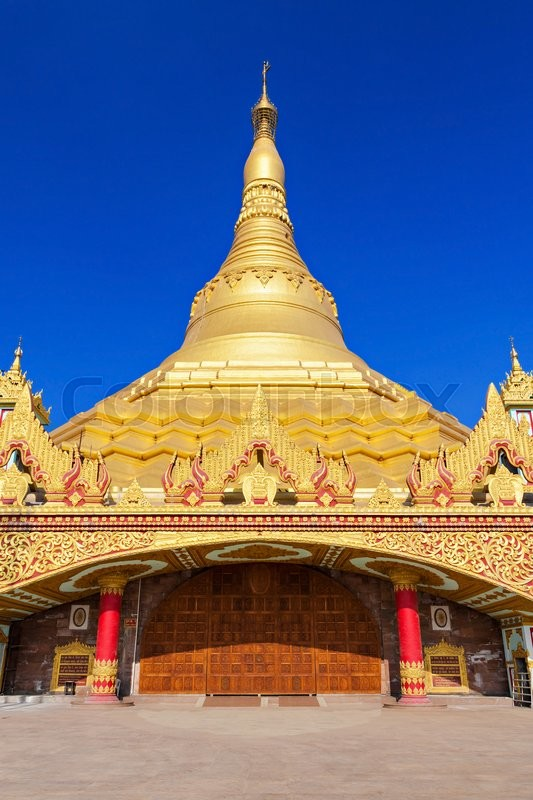 Stock image of 'The Global Vipassana Pagoda is a Meditation Hall in Mumbai, India'