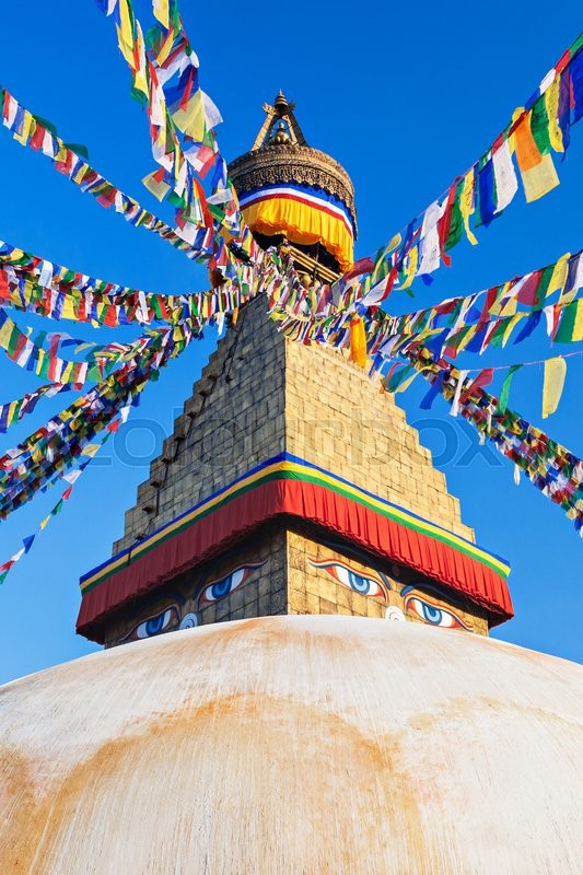 Stock image of 'Boudhanath (also called Boudha, Bouddhanath or Baudhanath) is a buddhist stupa in Kathmandu, Nepal'