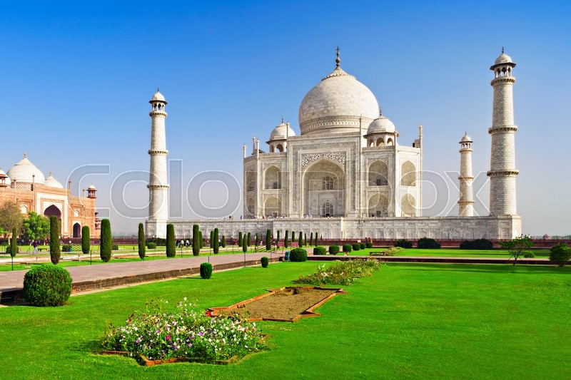 Stock image of 'Taj Mahal, Agra, Uttar Pradesh, India'