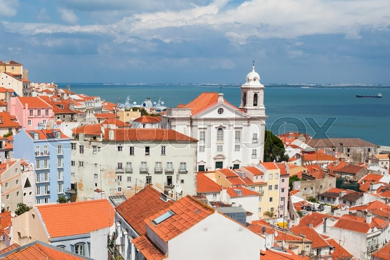 Stock image of 'The Monastery of Sao Vicente de Fora is a 17th-century church and monastery in Lisbon, Portugal'