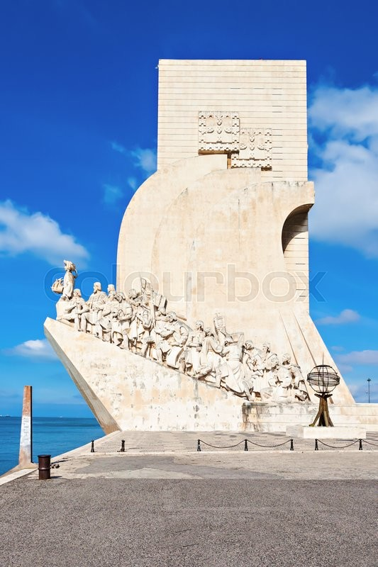 Stock image of 'Padrao dos Descobrimentos (Monument to the Discoveries) is a monument on bank of the Tagus River in Lisbon, Portugal'