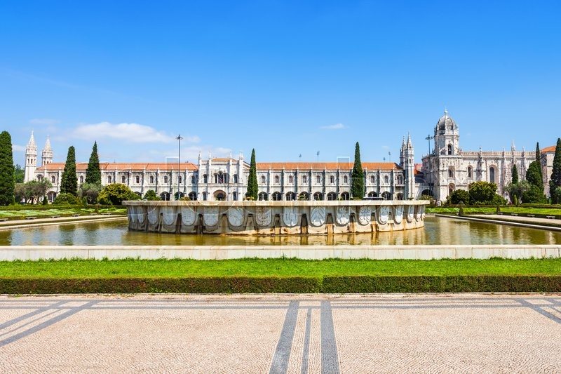 Stock image of 'The Jeronimos Monastery or Hieronymites Monastery is located in Lisbon, Portugal'