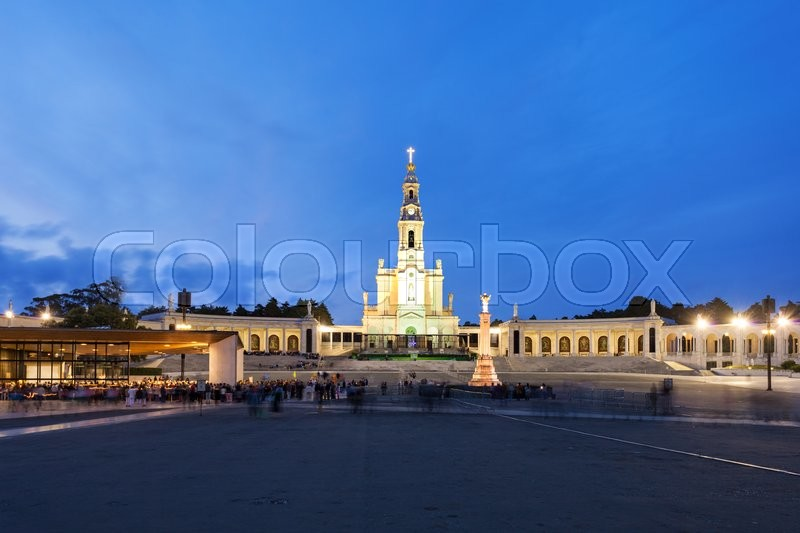 Stock image of 'The Sanctuary of Fatima at the night, Fatima, Portugal'