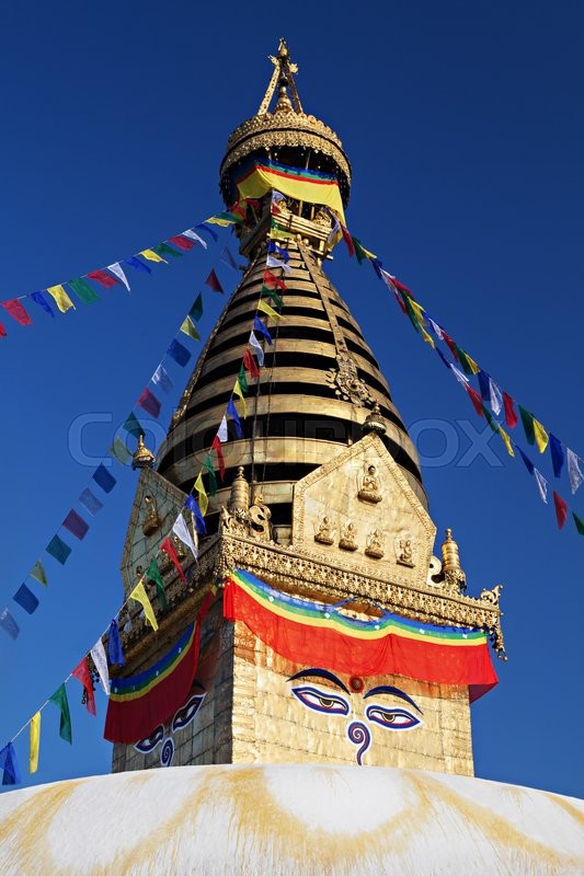Stock image of 'Swayambhunath is an ancient religious complex atop a hill in the Kathmandu Valley.'