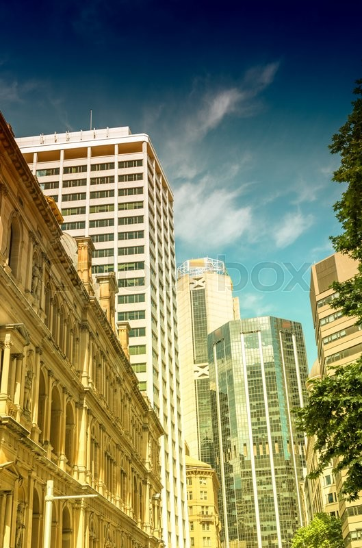 Stock image of 'Modern city skyline. Business and corporate concept.'