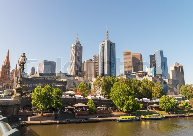 Stock image of 'Melbourne city, one of the most liveable city in the world in Victoria state, Australia. Buildings and skyline.'