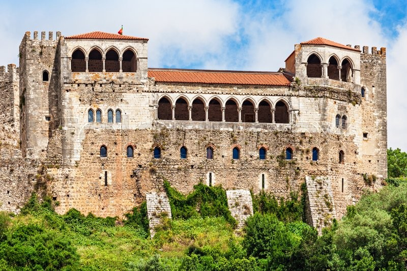 Stock image of 'The Leiria Castle is a castle in the city Leiria in Portugal'