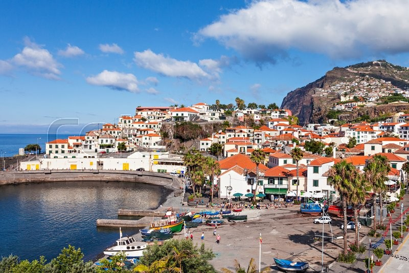 Stock image of 'Camara de Lobos is a city in the south-central coast of Madeira, Portugal'