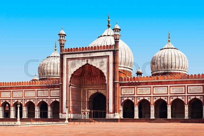 Stock image of 'Jama Masjid is the principal mosque of Old Delhi in India.'